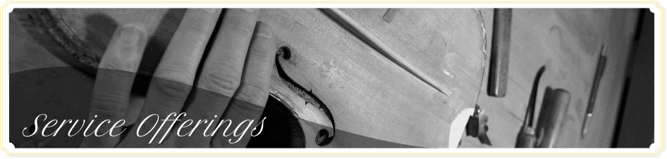 Close up of a beautiful, old violin that is currently being restored by master appraiser David Bonsey.
