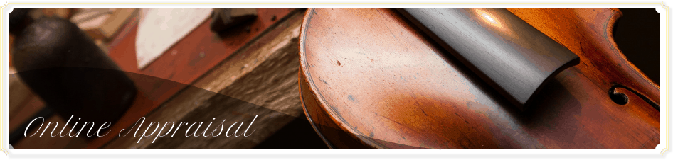 A close up of a violin that is currently being worked on in the shop of master appraiser David Bonsey of New York Violin Consulting & online violin appraisal services.